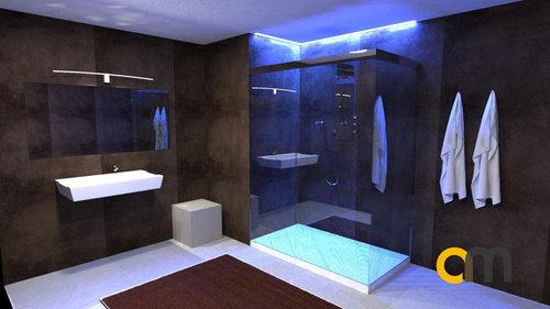Illuminazione cabina doccia con led rgb