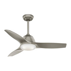 """Casablanca 44"""" Wisp Ceiling Fan with LED Light 59150 - Painted Pewter"""