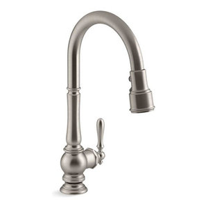 "Kohler Artifacts Kitchen Faucet w/ 17-5/8"" Pull-Down Spout, Vibrant Stainless"