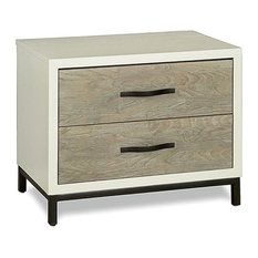 Beaumont Lane Nightstand In Gray Parchment