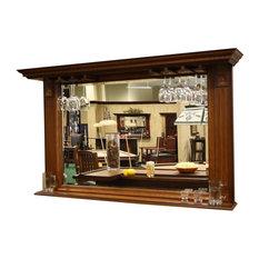 American Heritage - Kokomo Back Bar Mirror w Display Shelf - Wine and Bar Cabinets