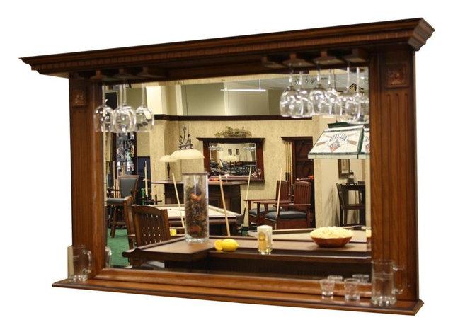 Kokomo Back Bar Mirror w Display Shelf Contemporary Wine And Bar