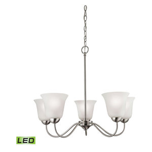 Thomas Lighting Conway 5 Light Led Chandelier in Brushed Nickel