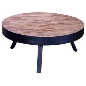 VidaXL Reclaimed Teak Round  Coffee Table
