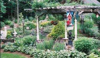 outdoor living Garden with pergola