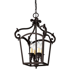4-Light Chandelier, Oil Rubbed Bronze Finish