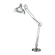 Atlas Floor Lamp, Satin Steel