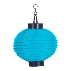 Outdoor Solar LED Chinese Lanterns, Set of 4, Blue