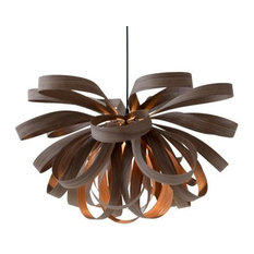 7Gods Lighting - 7Gods Lighting George Pendant Lamp, Walnut, Large - Pendant Lighting