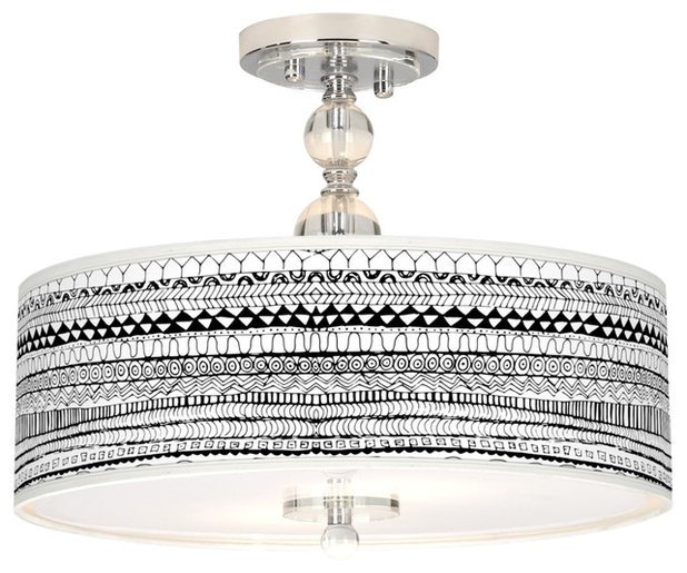 """Contemporary Ceiling Lighting Mr. Kate Lines Black 16"""" Wide Ceiling Light"""