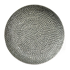 Benzara Woodland Imprts The Urban Port - Elegantly Decorative Ceramic Hammered Plate Silver  sc 1 st  Houzz & 50 Most Popular Contemporary Decorative Plates for 2018 | Houzz