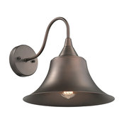 CHLOE Lighting IRONCLAD 1-Light Rubbed Bronze Wall Sconce 11.5""