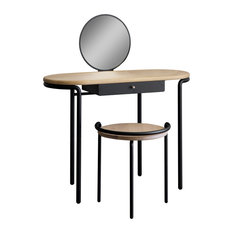 RESISTUB PRODUCTIONS   Mademoiselle Dressing Table, Black   Dressing Tables