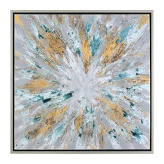 Exploding Star Modern Abstract Art Designed by Grace Feyock