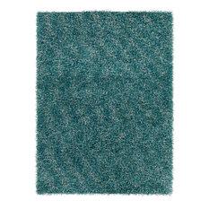 Blossom Rectangular Area Rugs Hand-Woven Shag Rug 7'x10' Blue