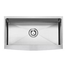 """Apron/Farmhouse Stainless Steel Kitchen Sink, Single Bowl, 33"""""""