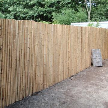 Bambus Zäune