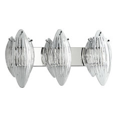 Cyan Design Chrome Bath Vanity Light With 3 Light 100W