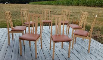 réfection complète en mousse de ces 8 galettes de chaise