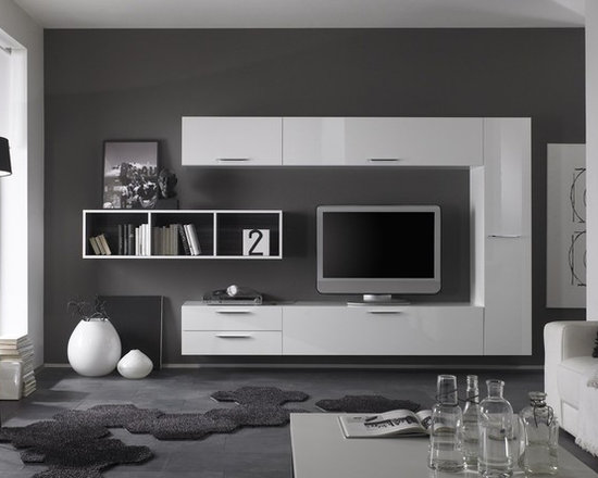 Modern Wall Unit TV Media Entertainment Center Club Composition 2    $2,146.00   Products