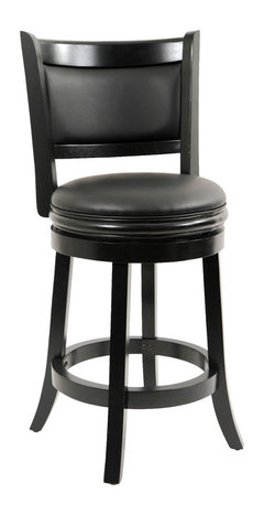 Dune Harris Memory Swivel Bar Stool Black Traditional
