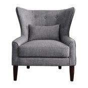 Millett Wingback Chair, Gray