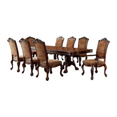 Cromwell Antique Cherry Double Pedestal Formal 7 Piece Dining Table Set