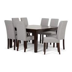 Acadian Contemporary 9-Piece Dining Set, Dove Gray Linen
