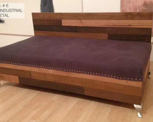 Custom Reclaimed Wood Modern Industrial Sofa
