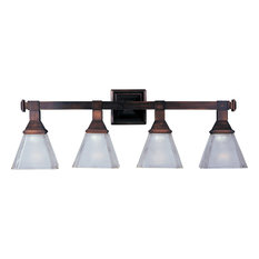Brentwood 4-Light Bath Vanity Sconce, Oil Rubbed Bronze, Frosted