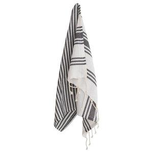 A.U. Maison Sally Tea Towel, Almost Black and White, Set of 4