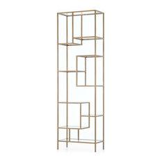 Henrik Brass Bookcase Tall (102-inch)