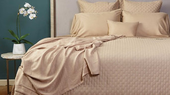 100% Rayon Bamboo Quilted Coverlets, Champagne, Queen