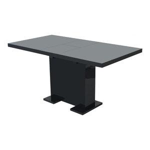 vidaXL Extendable Dining Table, Black