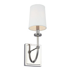 "Feiss WB1898 Stowe 1 Light 16"" Tall Bathroom Sconce - Nickel"