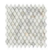 Calacatta Gold Rhomboid Diamond 1x1 1/2 Mosaic Polished, Marble From Italy