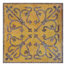 "Mozaico - Geometric Mosaic Art Tile, Lila Ii, 31""x31"" - Tile Murals"