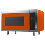 Big Chill - Retro Microwave, Orange - The coolest-looking microwave on the market.