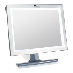 toilettree products deluxe led fogless shower mirror with squeegee makeup mirrors