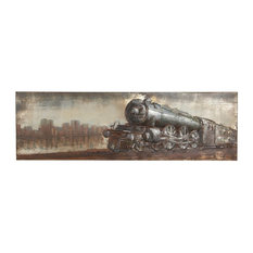 Industrial Iron Steam Engine Painted Wall Art