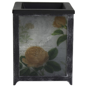 Scentsationals Scented Rose Blooms Full Size Wax Warmer Metal Glass Grey Modern Home Fragrances By Clickhere2shop