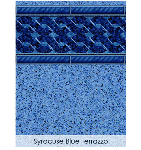 Toile aquafab syracuse blue terrazzo piscine et spas for Piscine blue design