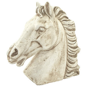 Horse Head Garden Sculptures, Set of 2
