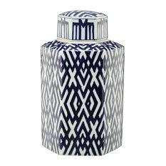 Carlyle Hexagonal Lidded Jar