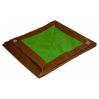 Foremost Cut Size Tarp Brown Green 90810 Green and Brown Cut Size Reversible