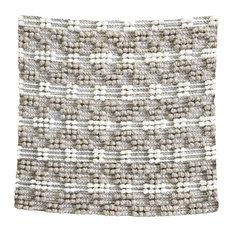 """Pebbles 22"""" Hand-Woven Outdoor Pillow, Gray"""