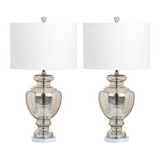 Morocco Glass Lamp, Set of 2, Mercury