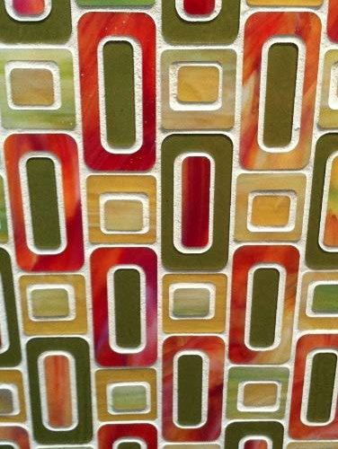 1960's Mod Style Glass Mosaic - Tile