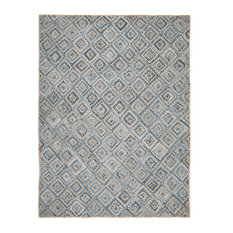 Emily Hand Woven Rug, Natural/Blue, 10'x14'