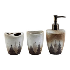 Forest Pines Bath Accessory Set